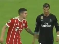 Cristiano Ronaldo et James se sont retrouvés. Capture