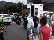 Jarlan Barrera sufrió un accidente de tráfico cerca de Medellín. Twitter/Gaboperiodista1