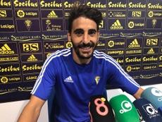 Javier Carpio renovó su contrato hasta junio de 2019. CádizCF