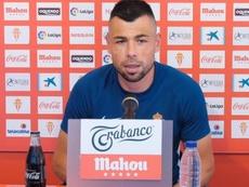 Javi Fuego analizó la situación del equipo. SportingGijón