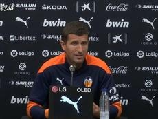 Javi Gracia analizó el Valencia-Atlético. Captura/VCFMedia