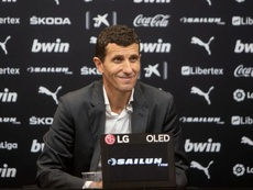 Gracia se deshizo en elogios hacia el trabajo de todo el equipo. EFE/Jorge Ramirez