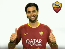 Javier Pastore signs for Roma from PSG. Twitter/ASRoma