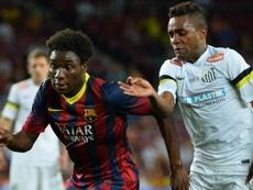 Dongou llegó a debutar en el Barça. AFP
