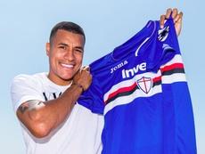 A Sampdoria anuncia a chegada de Murillo. Twitter/Sampdoria
