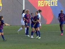 El Barça volvió a jugar con victoria. Captura/FCBarcelona