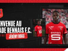 Doku ficha por el Rennes. Twitter/staderennais