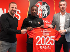 Doku s'engage avec le Stade Rennais. Twitter/staderennais
