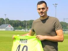 Prior rescinde con el Girondins y se va al Valenciennes. Twitter/VAFC