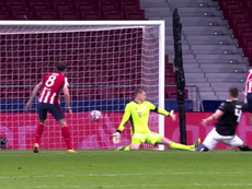 Joao Felix put Atletico Madrid 1-0 up. Screenshot/Movistar+LigadeCampeones