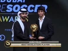 João Félix ganha o Globe Soccer de jogador revelação do ano. Atelevisao