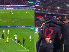 Joao Félix marcó el primer gol en Champions League de su carrera. Captura/Movistar+
