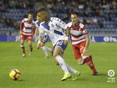Joao Rodríguez marcó el empate del Tenerife en la primera vuelta. LaLiga