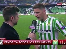 Joaquín valoró la derrota de los béticos. Captura/GolTV