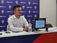 Joaquín Muñoz, dispuesto a conseguir cosas bonitas en Huesca. Twitter/SDHuesca