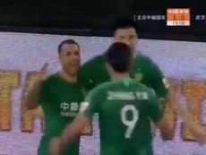 Jonathan Viera sigue con su idilio con el gol en China. Captura/FuteboldaChina_