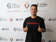 Osasuna incorpora a Jony en calidad de cedido. Twitter/CAOsasuna
