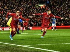 Festival de Liverpool contre Everton. EFE