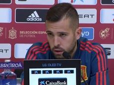 Jordi, muy feliz por volver a 'la Roja'. SEFútbol