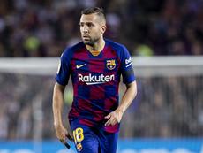 Le Barça pourrait perdre Jordi Alba pour un mois. Twitter/FCBarcelona_es