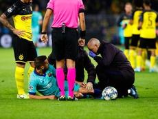 El Barça confirmó la lesión muscular de Jordi Alba. FCBarcelona