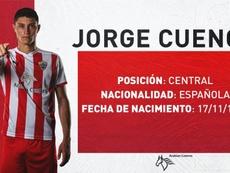 Jorge Cuenca, nuevo jugador del Almería. Twitter/U_D_Almeria
