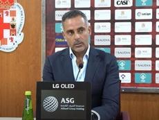 José Gomes habló en la previa. Captura/UDAlmeria