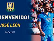 José León ya es del Alcorcón. Twitter/AD_Alcorcon