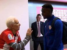 La historia de amor de 70 años de un aficionado con el Athletic. Captura/Movistar