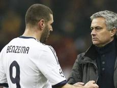 Benzema répond au clin d'œil de Mourinho sur Instagram. EFE/Archivo