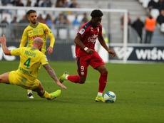El Nantes pierde fuelle en Burdeos. Twitter/Girondins