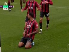 Southampton met fin à la série de United avec un but de King. Capture/DAZN