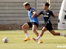 Mejías tiene 'muchas ganas de jugar en La Rosaleda'. Twitter/MalagaCF