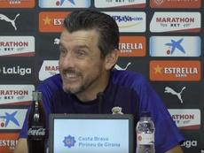 Juan Carlos Unzué analizó el duelo que le espera al Girona ante Las Palmas. Twitter/GironaFC