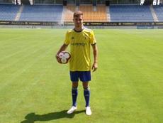 Juan Hernández se lesionó durante un entrenamiento. Twitter/Cádiz_CF
