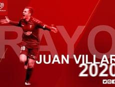 Juan Villar llega al Rayo Vallecano. Twitter/RayoVallecano