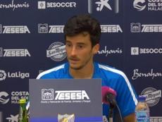 Juankar analizó el choque ante el Zaragoza. MálagaCF