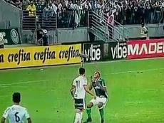 Penosa imagen en el fútbol brasileño. Twitter