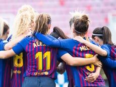 El Barcelona Femenino, cerca de Hansen. @FCBFemení