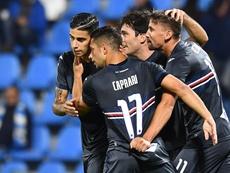 Ranieri ganó por primera vez con la Sampdoria. Sampdoria
