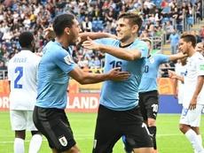 Uruguay pone pie y medio en octavos. Twitter/Uruguay