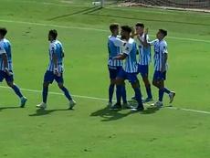 El Malagueño dio buena cuenta del Melilla. Captura/101TV