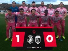 El Badajoz perdió por la mínima en La Línea de la Concepción. CDBadajoz