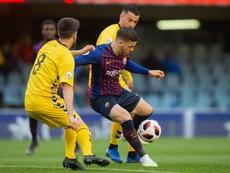 El Barça B tropieza otra vez y se aleja del 'play off'. Twitter/FCBarcelonaB