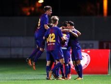 El Barcelona vence sin problemas al Olympiakos en la Youth League. FCBMasia