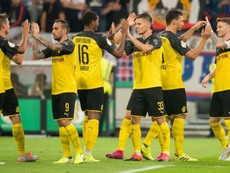 El Borussia no dio pie a posibles sorpresas. BorussiaDortmund
