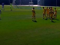 El Hércules-Peña Deportiva, con 400 espectadores. Captura/HérculesCFOficial