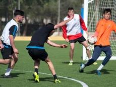 Los jugadores del Lorca denunciaron su precaria situación. LorcaDeportiva
