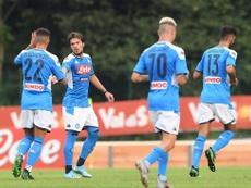 El Nápoles no pasó del empate a tres. SSCNapoli