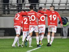 El Murcia derrotó al Cádiz B. Twitter/RealMurciaSAD/ArtemioMartínez